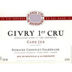 givry 1er cru 2013  clos jus domaine chofflet-valdenaire