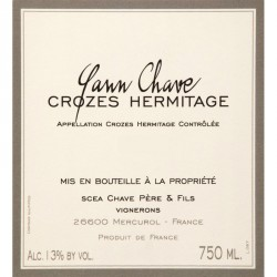 Domaine Yann Chave Crozes Hermitage 2016 Rouge Magnum